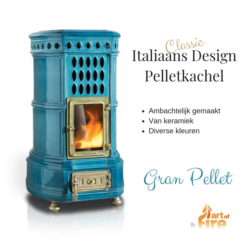 Gran Pellet kachel Italiaans Design biokachel