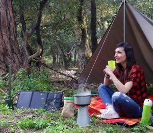 Wild camp cook biomassa