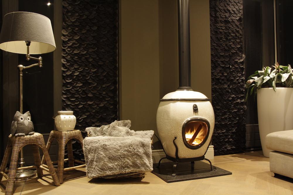 African Flame by Art of Fire white raku