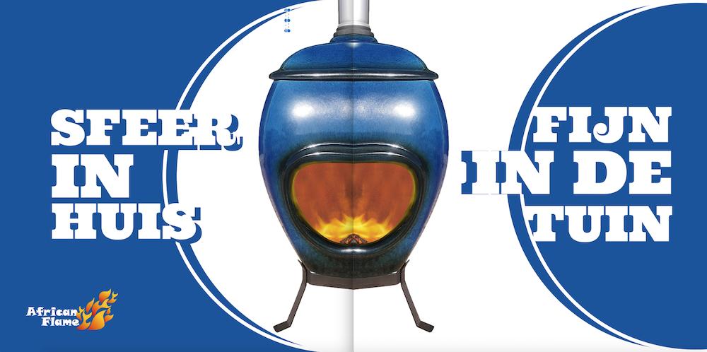 Decemberactie african flame blue