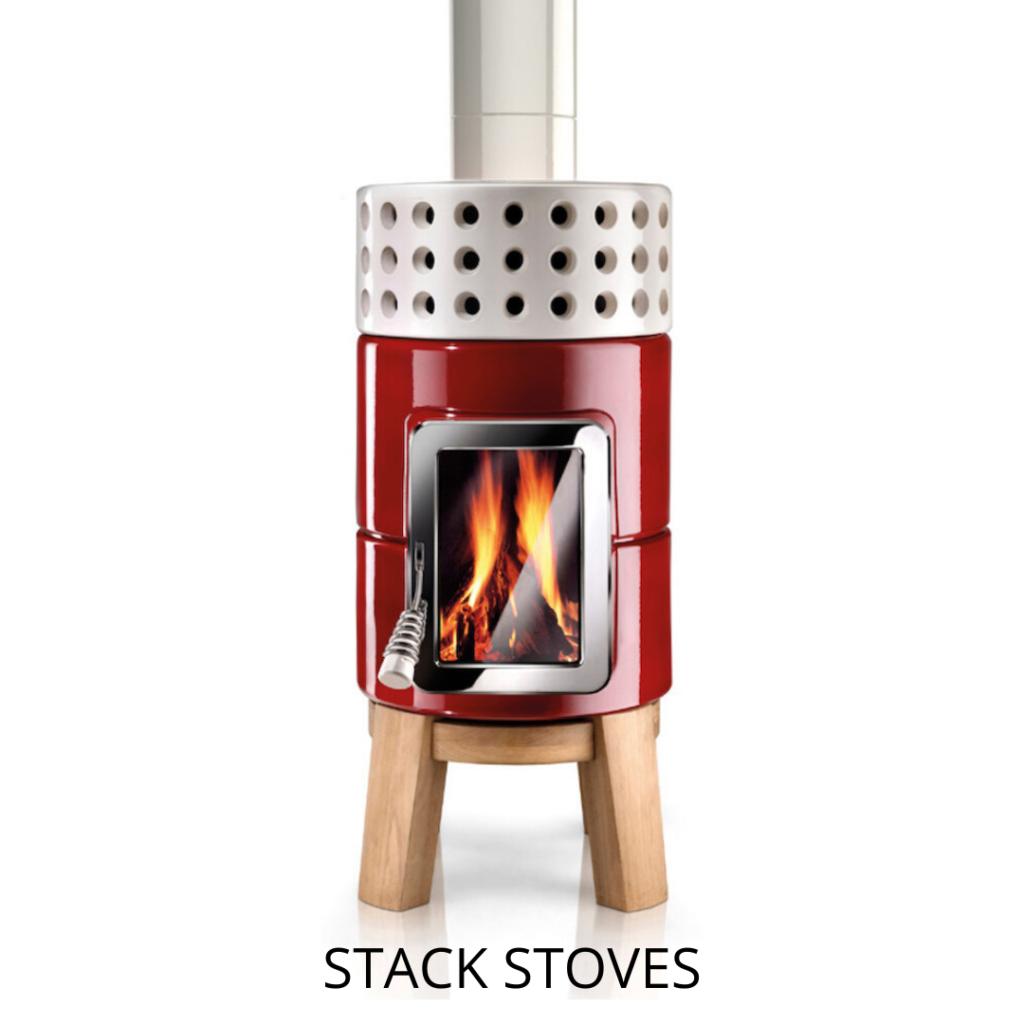 keramische houtkachel stack stove roundstack