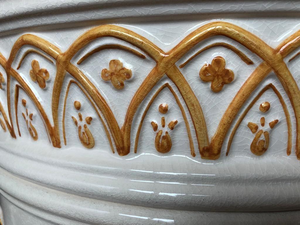 Klassiek is chique keramische kachel Rondo ornament
