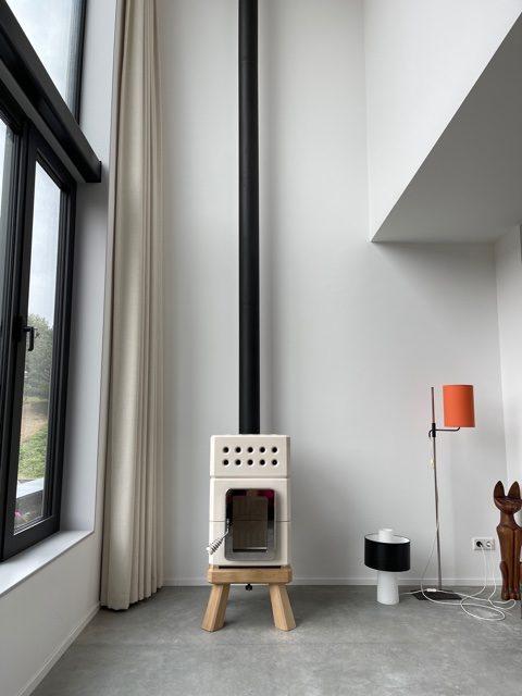 Witte Mini Stack met zwart rookkanaal 7