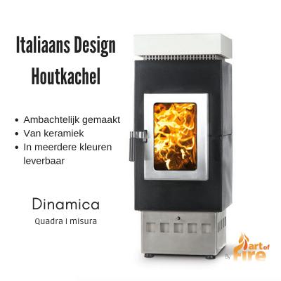 Italaanse design houtkachel