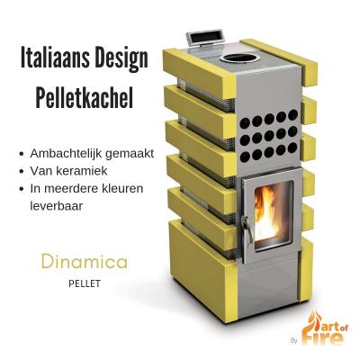 Italiaanse design pelletkachel modern