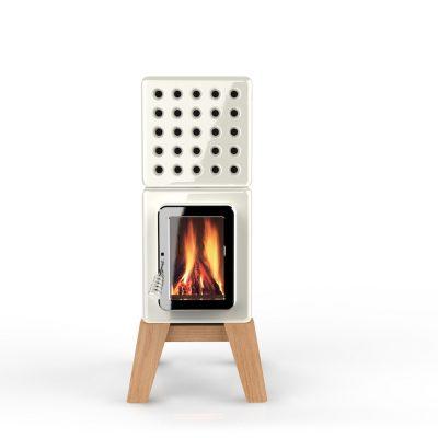 Art of Fire Cubi Stack houtkachel wit hout