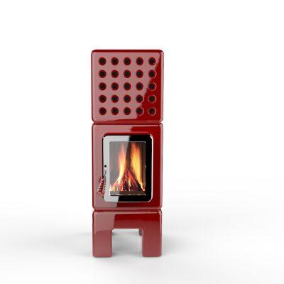 Art of Fire slim Red keramiek La Castellamonte