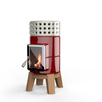 Art of Fire houtkachel keramiek roundstack wood-4